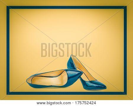 Beautiful Blue Classic Women Shoes