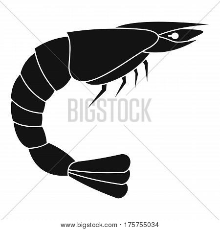 Fresh sea shrimp icon. Simple illustration of fresh sea shrimp vector icon for web