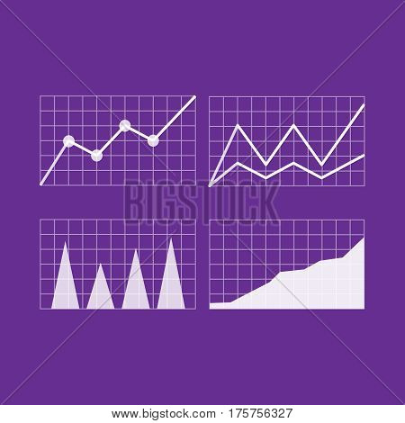 Graphs and charts. Graphs and charts vector set