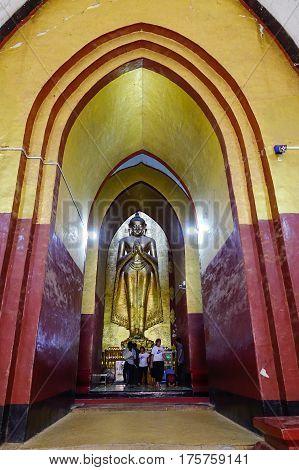 Inside Of Ananda Temple In Bagan, Myanmar