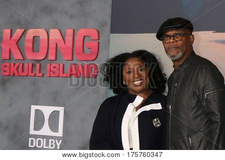 LOS ANGELES - MAR 8:  LaTanya Richardson, Samuel L. Jackson at the