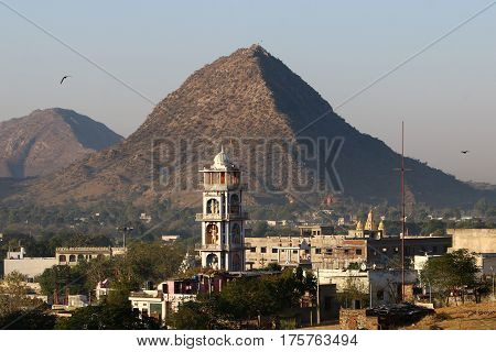 Pushkar - a city in the Ajmer district, India, is one of the sacred places of pilgrimage in Hinduism