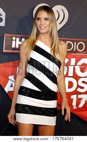 Heidi Klum at the 2017 iHeartRadio Music Awards held at the Forum in Inglewood, USA on March 5, 2017.