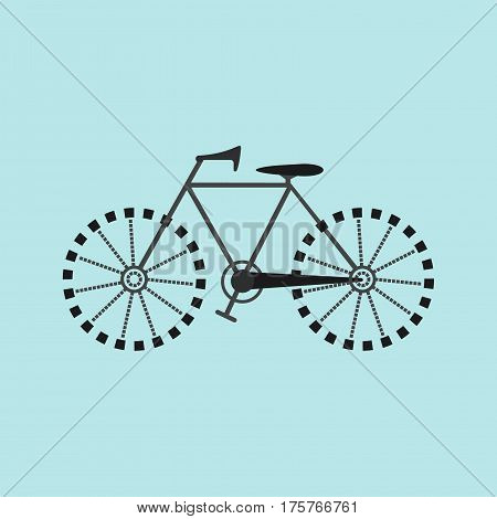 Flat Grey Bicycle Icon for your Design