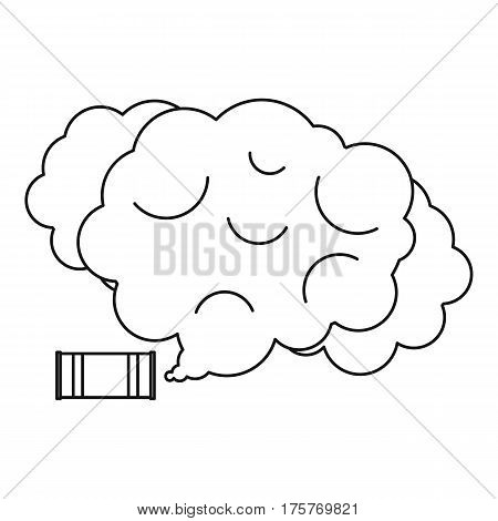 Tear gas icon. Outline illustration of tear gas vector icon for web