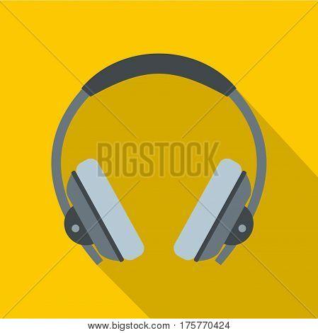 Headphone icon. Flat illustration of headphone vector icon for web