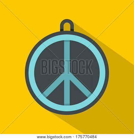 Rock sign icon. Flat illustration of rock sign vector icon for web