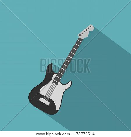 Acoustic guitar icon. Flat illustration of acoustic guitar vector icon for web