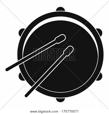 Drum icon. Simple illustration of drum vector icon for web