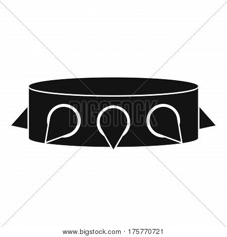 Rock collar icon. Simple illustration of rock collar vector icon for web