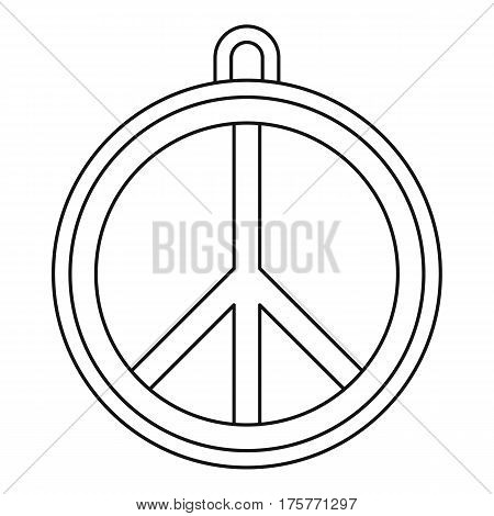 Rock sign icon. Outline illustration of rock sign vector icon for web