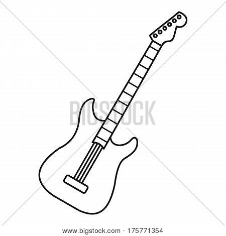 Acoustic guitar icon. Outline illustration of acoustic guitar vector icon for web