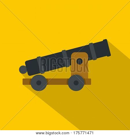 Cannon icon. Flat illustration of cannon vector icon for web