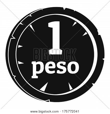 Peso icon. Simple illustration of peso vector icon for web