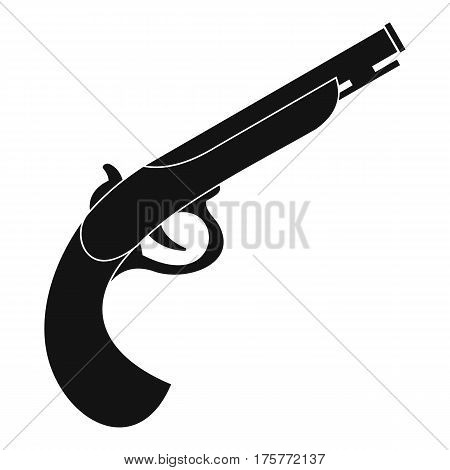 Gun icon. Simple illustration of gun vector icon for web