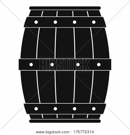 Wooden barrel icon. Simple illustration of wooden barrel vector icon for web