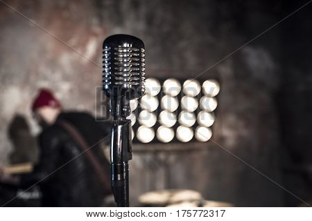 Retro Microphone. A Beautiful Microphone