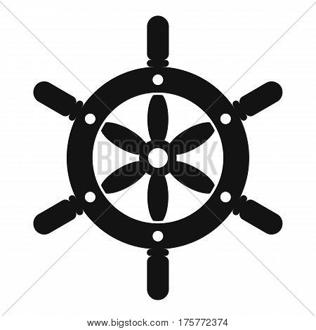 Ship wheel icon. Simple illustration of ship wheel vector icon for web