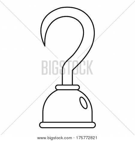 Hook icon. Outline illustration of hook vector icon for web