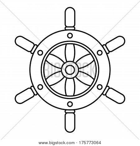 Ship wheel icon. Outline illustration of ship wheel vector icon for web