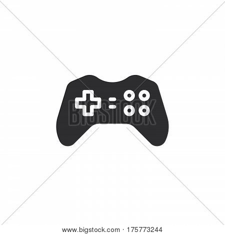 Gamepad joypad icon vector filled flat sign solid pictogram isolated on white. Gaming Controller symbol logo illustration