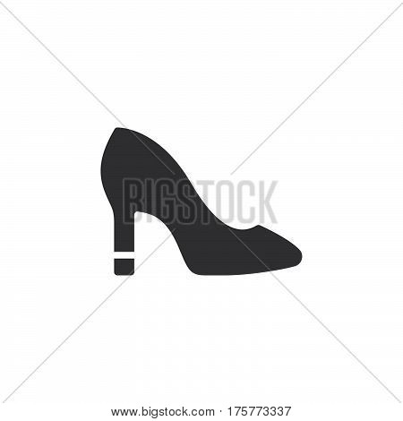 Womens Shoes icon vector filled flat sign solid pictogram isolated on white. Symbol logo illustration