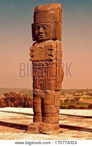 Atlantean Figure In Tula. Mexico