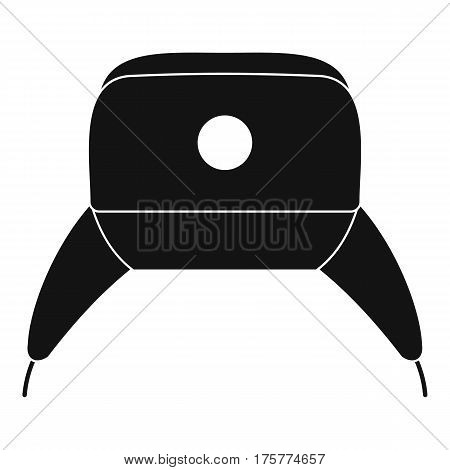 Earflap hat icon. Simple illustration of earflap hat vector icon for web
