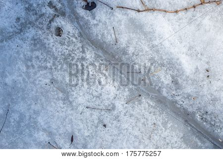 Melting Snow Background