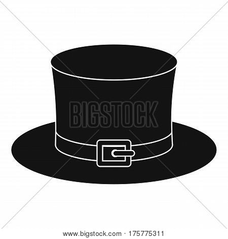 Leprechaun hat icon. Simple illustration of leprechaun hat vector icon for web