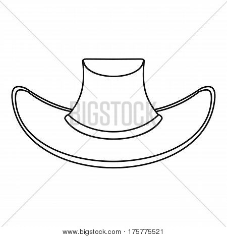 Cowboy hat icon. Outline illustration of cowboy hat vector icon for web