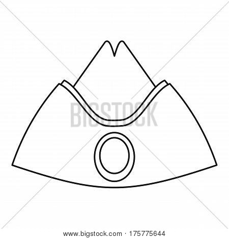 Forage cap icon. Outline illustration of forage cap vector icon for web