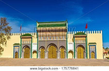 Dar El-Makhzen, the Royal Palace in Fes - Morocco poster