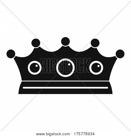Jewelry crown icon. Simple illustration of jewelry crown vector icon for web
