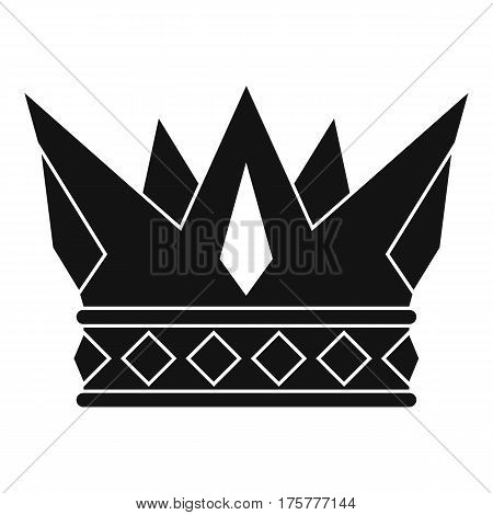 Cog crown icon. Simple illustration of cog crown vector icon for web