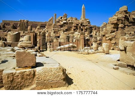 The famous Karnak Temple in Luxor, Egypt