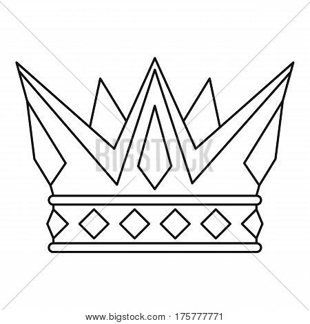 Cog crown icon. Outline illustration of cog crown vector icon for web