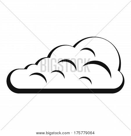 Cumulus cloud icon. Simple illustration of cumulus cloud vector icon for web