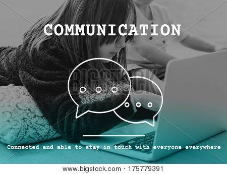 Chat Speech Bubble Communication Network