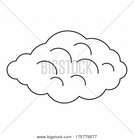 Small cloud icon. Outline illustration of small cloud vector icon for web