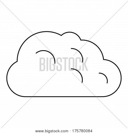 Storm cloud icon. Outline illustration of storm cloud vector icon for web
