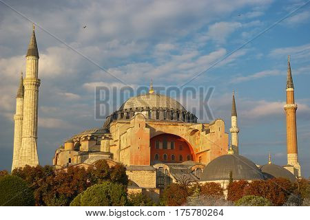 View of Hagia Sophia, Christian patriarchal basilica, imperial mosque and now a museum, Istanbul, Turkey