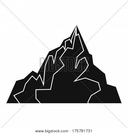 Iceberg icon. Simple illustration of iceberg vector icon for web