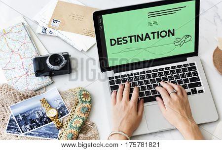 Holiday Destination Tour Travel Plane Symbol