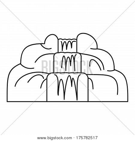 Waterfall icon. Outline illustration of waterfall vector icon for web