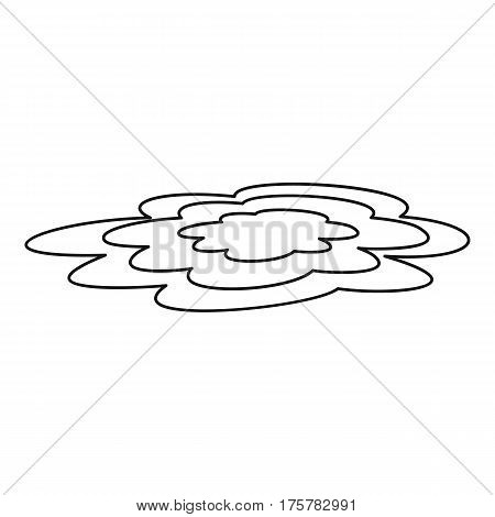 Water puddle icon. Outline illustration of water puddle vector icon for web