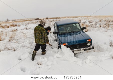 A Car In The Snow