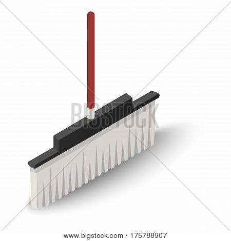 Floor broom icon. Isometric illustration of floor broom vector icon for web