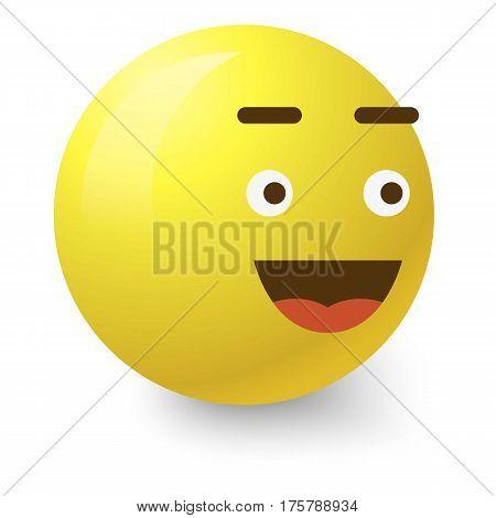 Glad smiley icon. Cartoon illustration of glad smiley vector icon for web
