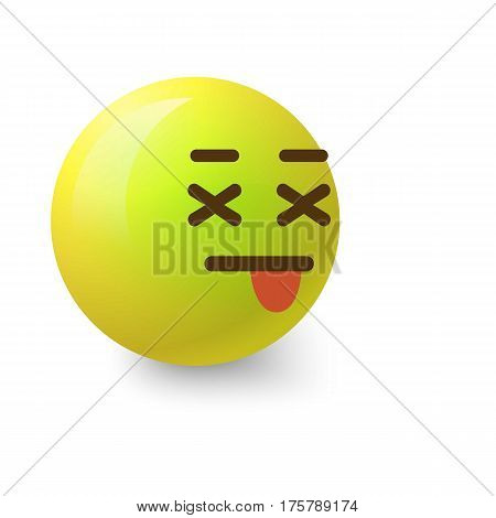 Sick smiley icon. Cartoon illustration of sick smiley vector icon for web
